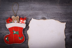 Christmas background -  Message for Santa Claus concept Royalty Free Stock Photo