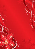 Christmas background with mistletoe and snowflakes, vector Royalty Free Stock Photography