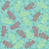 Christmas background mittens. Vector graphic illustration design art Stock Image