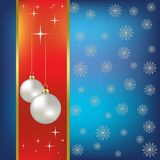 Christmas  background nacreous balls Stock Photography