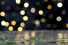Christmas background with needles Royalty Free Stock Images