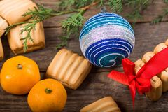 Christmas background. New Year composition Royalty Free Stock Photos