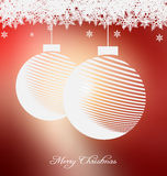 Christmas background with nice embellishment Royalty Free Stock Images