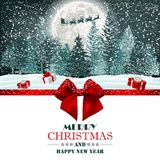 Christmas background night outdoor scene royalty free stock photography