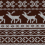 Christmas background - Norwegian knitting patterns Royalty Free Stock Photos