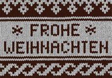 Christmas background - Norwegian knitting patterns Royalty Free Stock Photos