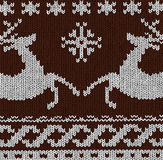 Christmas background - Norwegian knitting patterns Stock Photo