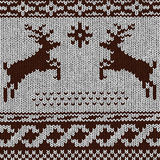 Christmas background - Norwegian knitting patterns Royalty Free Stock Image