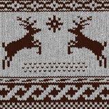Christmas background - Norwegian knitting patterns Royalty Free Stock Image