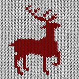 Christmas background - Norwegian knitting patterns Royalty Free Stock Photo