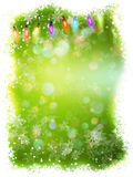 Christmas background with nowflakes. EPS 10. Green abstract Christmas background with white snowflakes. EPS 10 vector file included Royalty Free Stock Images