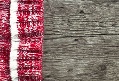 Christmas background. Old wood and sweater. Royalty Free Stock Images