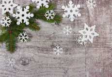 Christmas background old wooden boards Stock Image