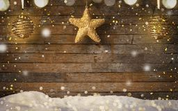 Christmas Background, old wooden background Royalty Free Stock Photography