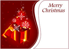Christmas background with open gift box Stock Images
