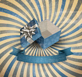 Christmas background with open gift box. Stock Image