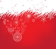 Christmas background with ornament snowflakes Stock Images