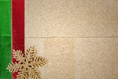 Christmas background with ornament on wood Royalty Free Stock Photos