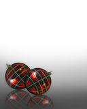 Christmas Background ornaments Plaid Royalty Free Stock Images