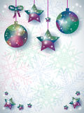 Christmas background with ornaments and space for text Stock Photography