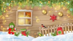 Christmas Background with Ornaments Royalty Free Stock Photography