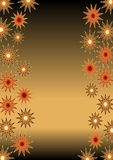 Christmas background for own text with glossy stars Royalty Free Stock Image