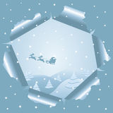 Christmas background through paper Royalty Free Stock Images