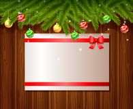 Christmas background with paper. Card vector illustration