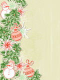 Christmas background with paper decorations Stock Image
