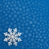 Christmas background with paper snowflake Stock Images