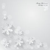 Christmas background with paper snowflakes. Vector Illustration Royalty Free Stock Photos