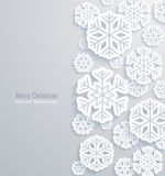 Christmas background with paper snowflakes. Royalty Free Stock Image
