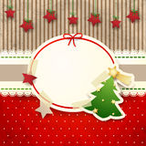 Christmas background with paper tree Stock Photography