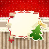 Christmas background with paper tree Royalty Free Stock Images