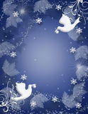 Christmas Background peace doves sparkle Stock Photo