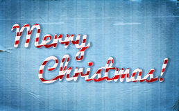 Christmas background with peppermint cone style greetings Royalty Free Stock Photography