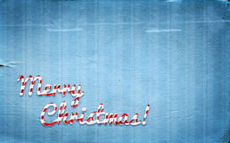 Christmas background with peppermint cone style greetings Stock Photo