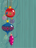 Christmas background performed by vintage style. Royalty Free Stock Image
