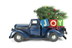 Christmas background. Pickup with christmas decoration Stock Photos