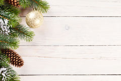 Christmas background with pine tree Stock Image