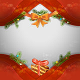 Christmas background with pine tree Royalty Free Stock Image