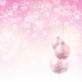 Christmas background with pink blurred balls Royalty Free Stock Photo