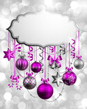 Christmas background with place for text. Vector illustration royalty free illustration
