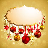Christmas background with place for text. Vector illustration Stock Photo