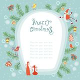 Christmas background with place for your text Royalty Free Stock Image