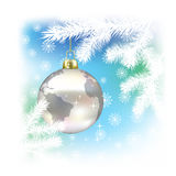 Christmas background with planet Royalty Free Stock Images