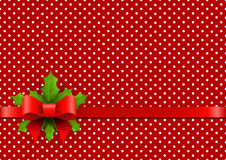 Christmas background with polka dots Stock Photography