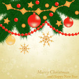 Christmas background postcard Stock Photo