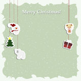 Christmas background poster with decorative Christmas elements Royalty Free Stock Images