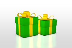 Christmas background with present box Stock Photography